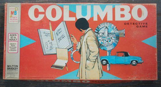 70's COLUMBO Detective Board Game MILTON BRADLEY by WUNDERSTUFF, $14.99