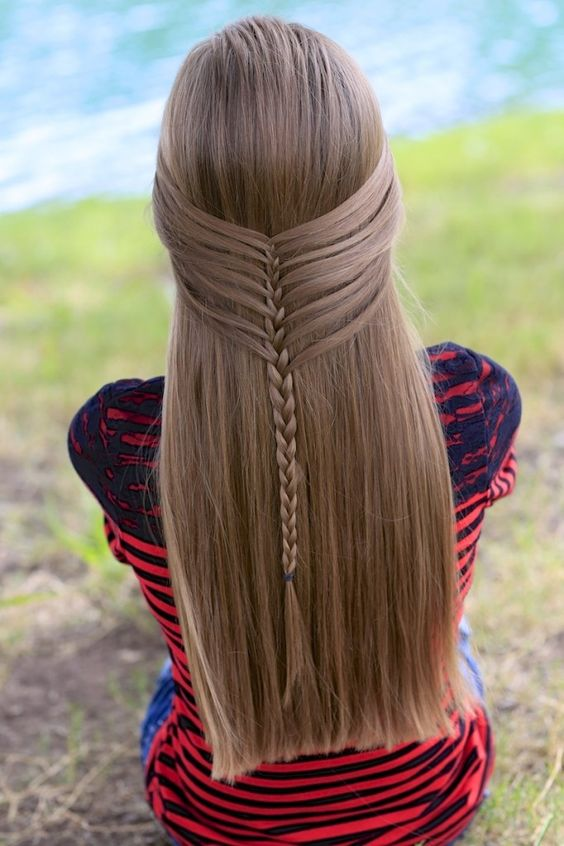 Cute Hairstyles For The New School Year : Mermaid half braid by cute girls hairstyles create this