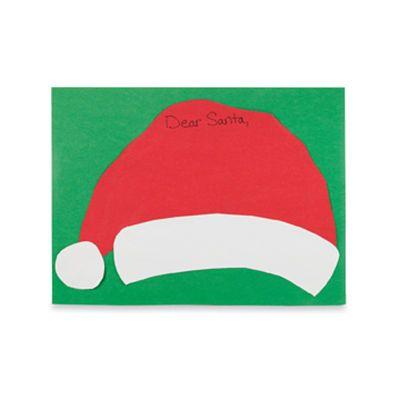 how to make an santa hat with construction paper