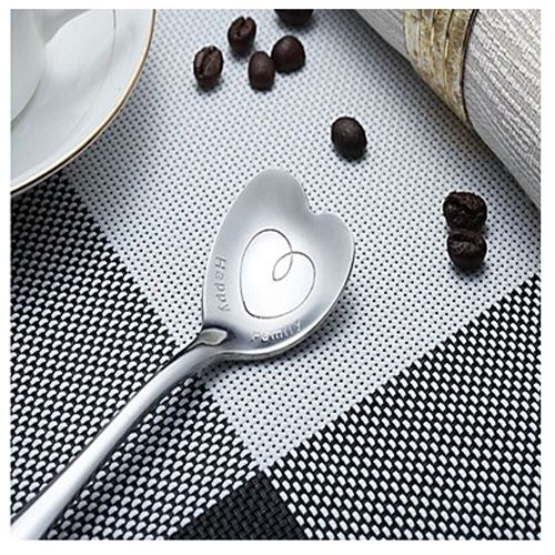 Heart-Shaped Stainless Steel Spoon