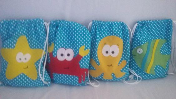 mochilas infantil fundo do mar | shoping das lembrancinhas | Elo7
