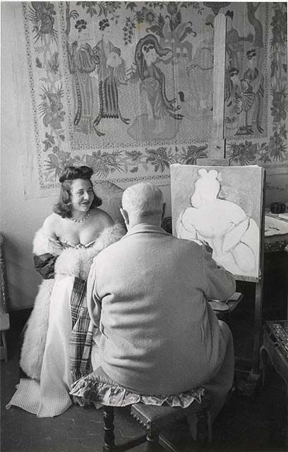 Protrait of Matisse - Venice 1944 :: by Henri Cartier-Bresson - (August 22, 1908 – August 3, 2004) who was a French photographer considered to be the father of modern photojournalism. He was an early adopter of 35 mm format, and the master of candid photography. He helped develop the street photography or life reportage style that was coined The Decisive Moment that has influenced generations of photographers who followed.: