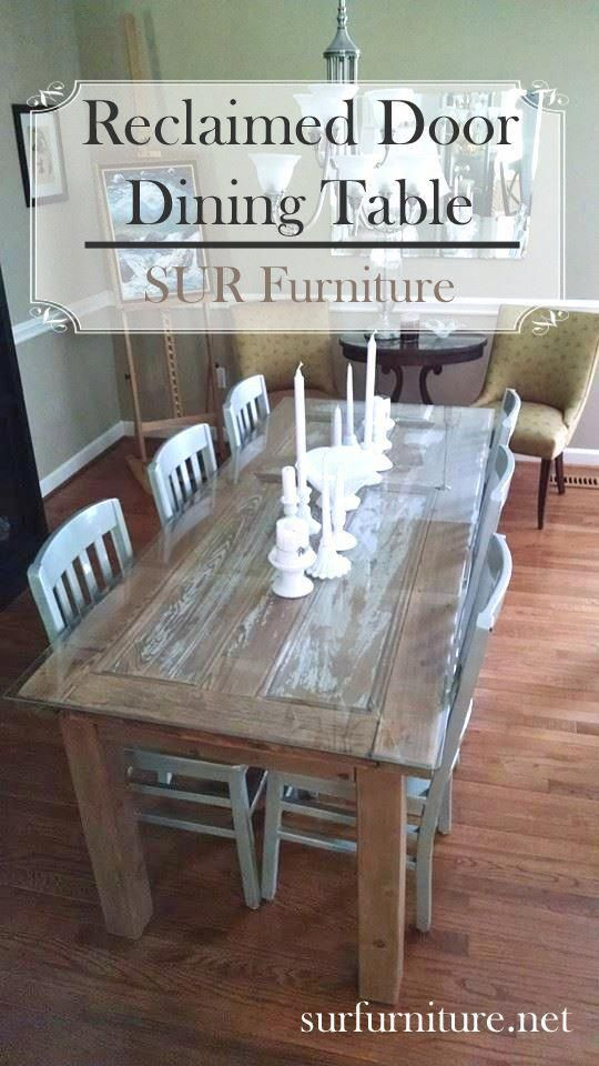 Rustic Antique Kitchen Idea Door Dining Table Diy Room