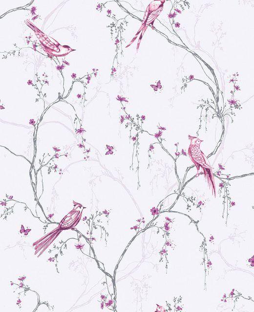 Vliestapete Birdies 1000 Cm Lange In 2020 Tapeten Papierwande Tapeziertisch
