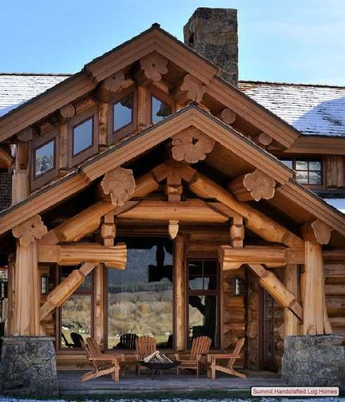 Luxury Home Design Summit: Standout Log Homes Plans . . . A Majestic Mountain Home