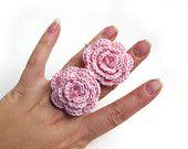 Cute crochet hair flowers elastics.