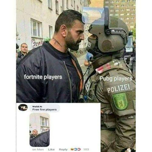 Freefire Fortnite Pubg Meme Gamer Gamers Gaming