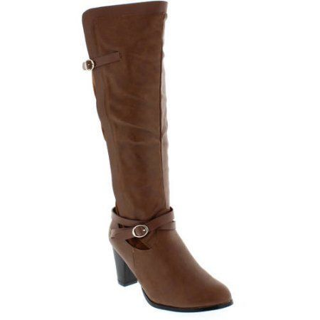 Shoes of Soul Women's Short Buckle Boot, Size: 10, Brown