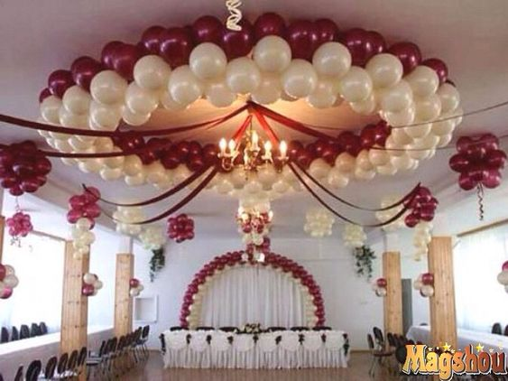 Decoraci n techo decoraciones con globos pinterest - Decoraciones para techos ...
