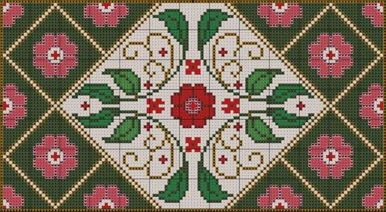 Miniature needlework chart (rest of chart and color key at link)