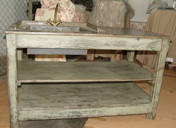 alter waschtisch sp lentisch sp ltisch aus frankreich gr nlich patiniert in antiquit ten. Black Bedroom Furniture Sets. Home Design Ideas
