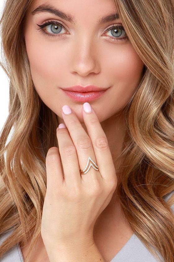 World Traveler Gold and Rhinestone Ring at Lulus.com!