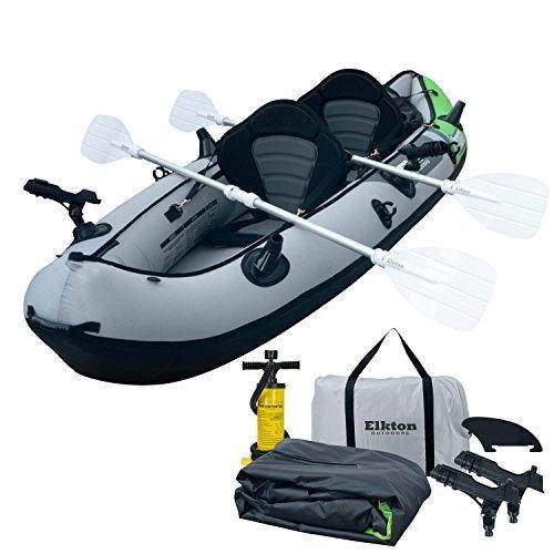 Elkton Outdoors Comorant 2 Person Kayak 10 Foot 2 Person Inflatable Fishing Kayak Full Kit Inflatable Fishing Kayak Kayak Fishing Kayak Accessories