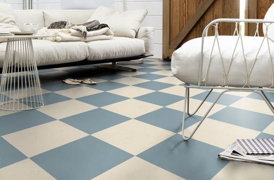 Forbo Marmoleum click vintage blue and moon