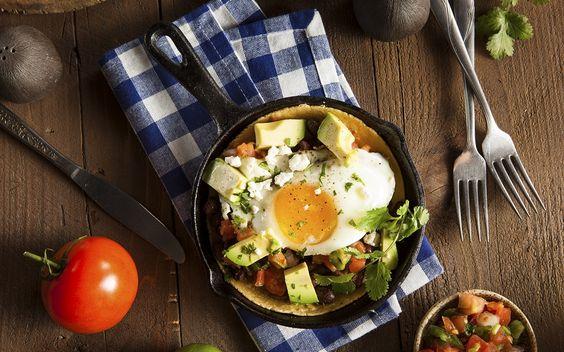 Huévos Rancheros With Roasted Chile & Tomato Ranchera Sauce Recipe. # ...