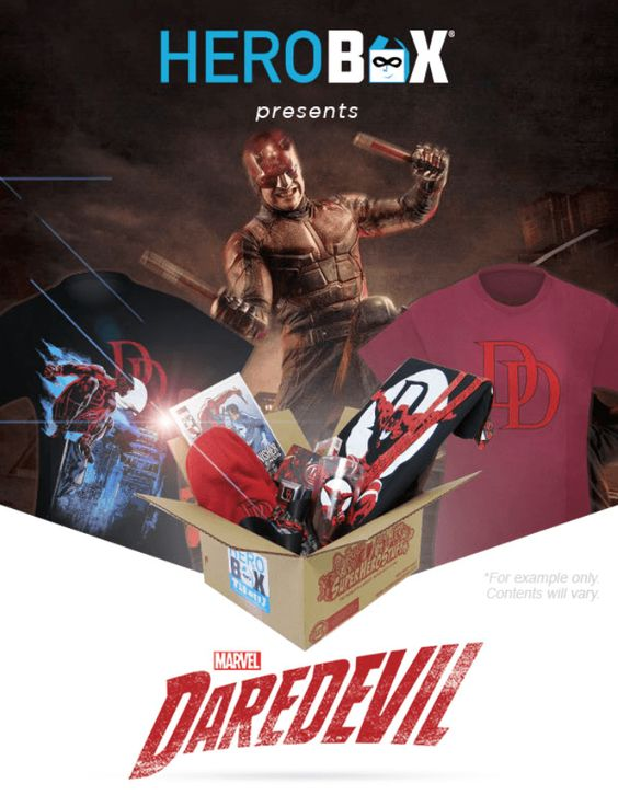 HeroBox Daredevil Limited Edition Mystery Gift Boxes Now Available! - http://hellosubscription.com/2016/03/herobox-daredevil-limited-edition-mystery-gift-boxes-now-available/ #HeroBox