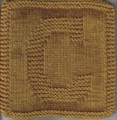 Knitted Dishcloth Pattern With Letters : The letter