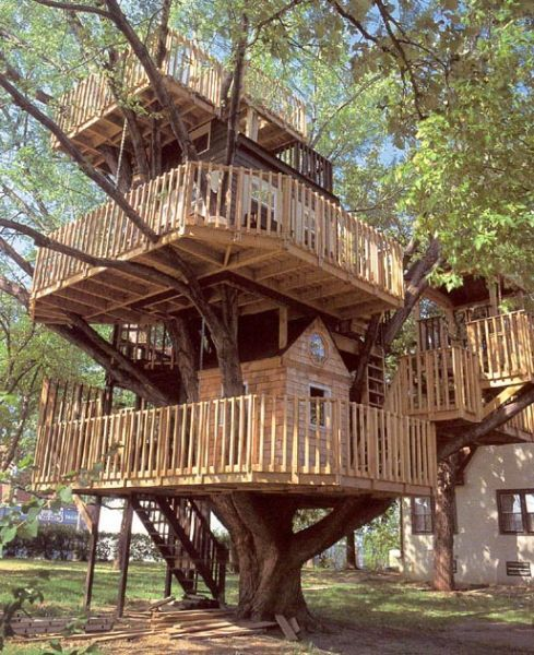 now thats a tree house!!