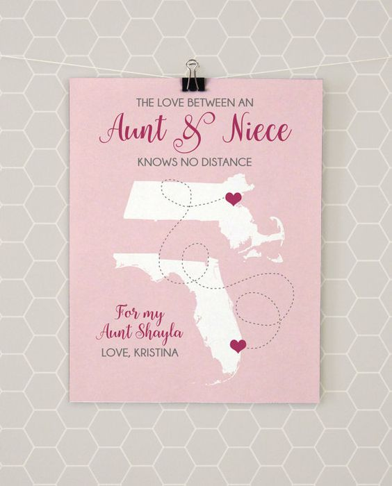 Baby Gift Ideas From Uncle : Niece gifts aunt and moving away on
