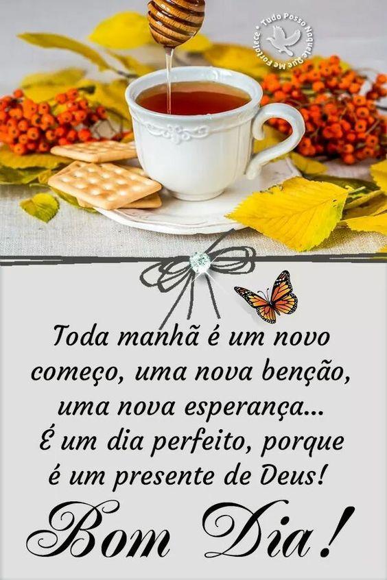 Toda manhã é um novo começo! Bom dia