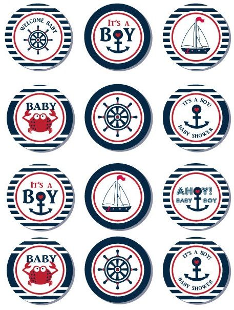 Free Nautical Party Printables from Ian & Lola Designs | Jars ...