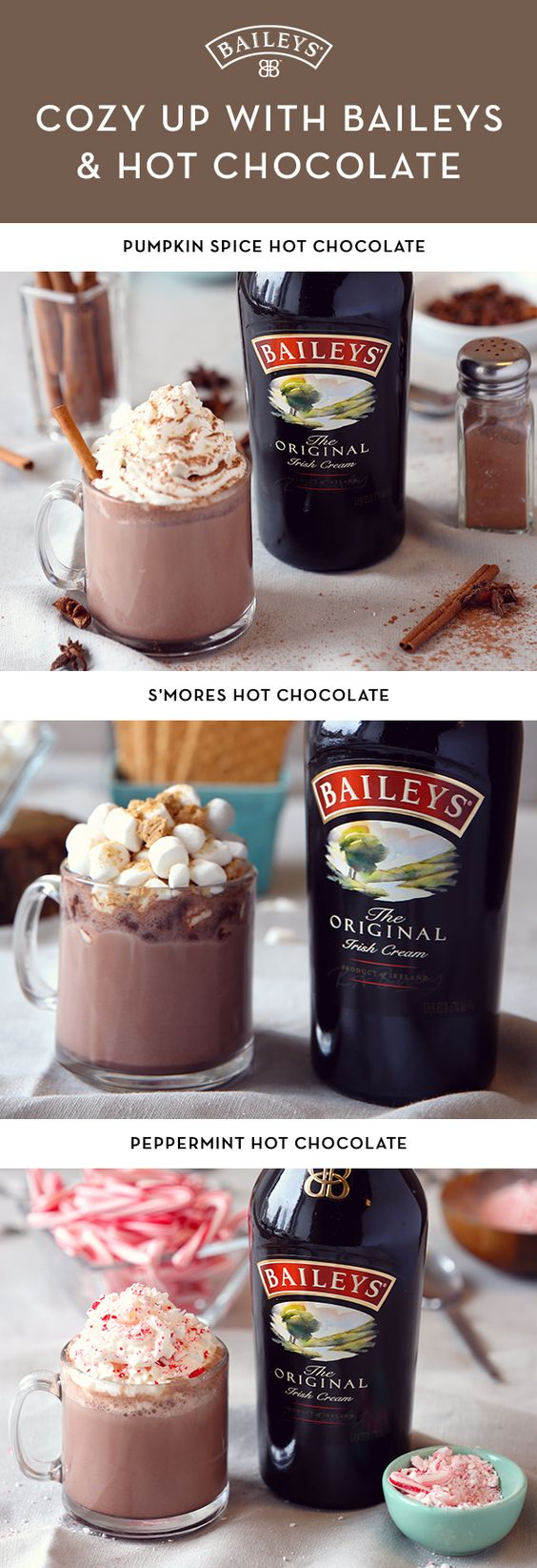 Hot chocolate, The winter and Irish cream on Pinterest