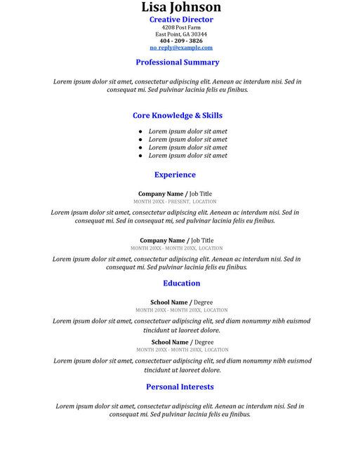 Resume Templates 2016 (resume_template) on Pinterest