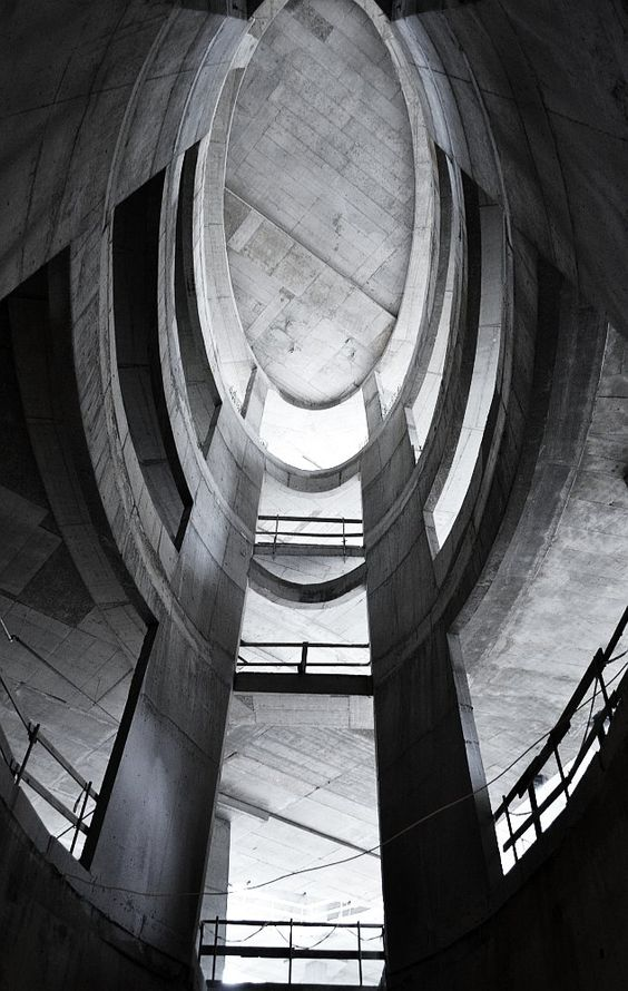 MM Gallery in Poznań. Photo made when building was under construction