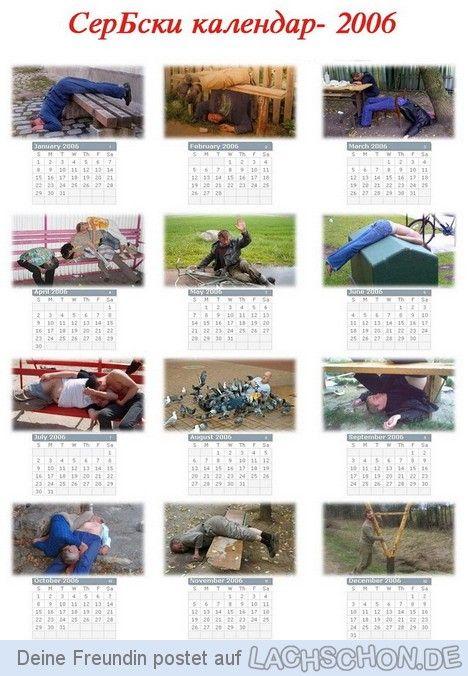 serbischer kalender 2006 - jahr,serbien,yoga,kalender,besoffen
