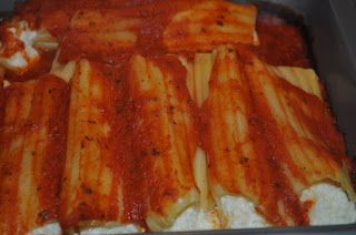 Easy Baked Cheese Manicotti. Hope it's good!