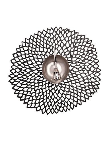 Floral Shaped Pressed Dahlia Black Placemat - Love Chilewich, their collection just landed at theBay.com