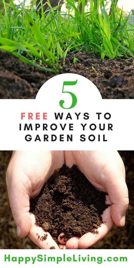 5 Free Ways To Improve Your Garden Soil Happy Simple Living Garden Soil Preparation Garden Soil Organic Gardening Pest Control