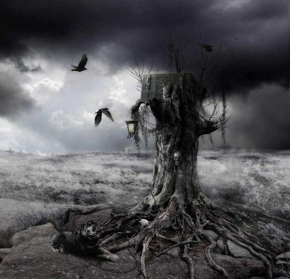 evil landscape background - photo #28