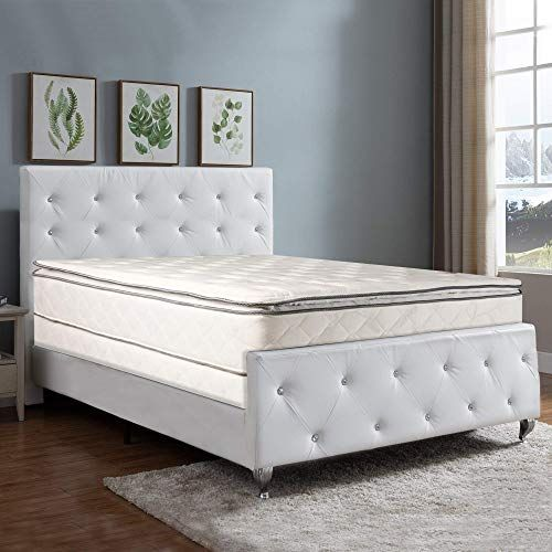 New Nutan 10 Inch Medium Pillowtop Innerspring Fully Assembled Mattress And 4 Inch Wood Box Spring Foundation Set Good For The Back King Online Onlineshoppin In 2020 Comfort Mattress Mattress Panel Bed Frames
