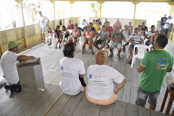 #ThrowBackThursday Here is a picture of CGV's Laine Tavares at a meeting in Sao Joaquim during her monitoring trip to the communities in the Trocanã region.