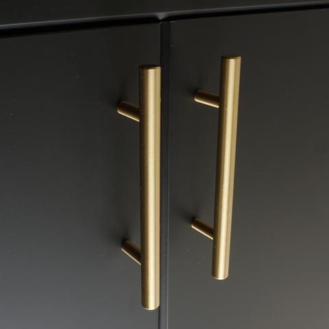 Watt T Bar Handle In 2020 Brass Handles Gold Cabinet Hardware