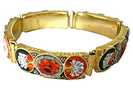 Floral Micro-Mosaic Italian Bracelet on OneKingsLane.com