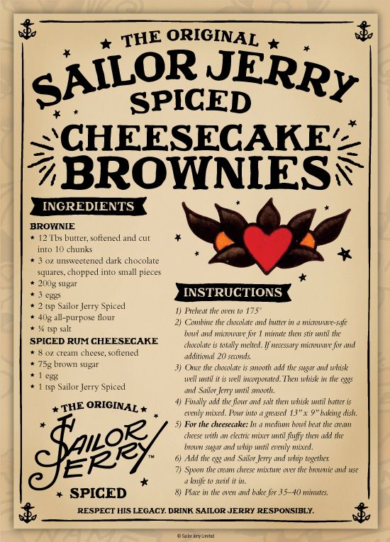 Sailor Jerry Cheesecake Brownies