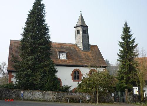 Rinderbügen; ev.Kirche; älteste Teile aus dem 13. JH. Home church of Hans & Margaretha Faust?