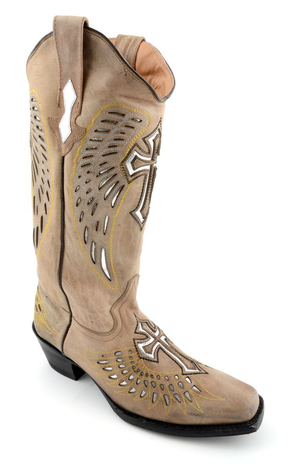 Genuine leather cowboy boots with awesome cross design! Corky's ...