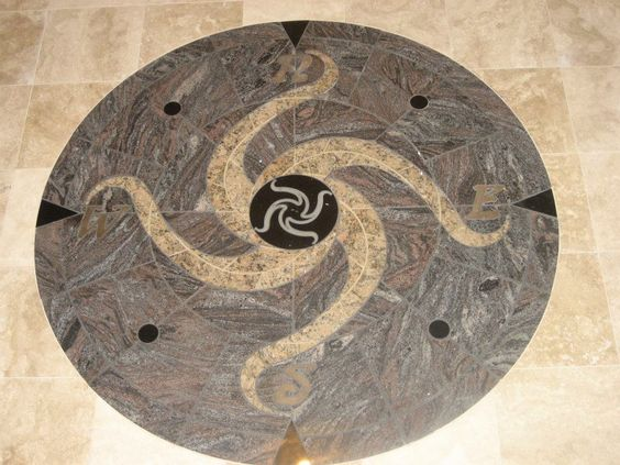 Stainless Steel Floor Inlays : Compass rose and granite on pinterest