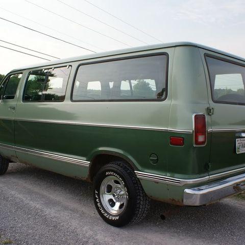 Old School Dodge Vans By Douglas E Hopper In 2020 Dodge Van Vans