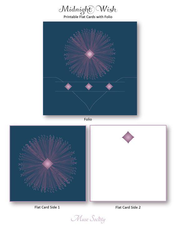 Midnight Wish Cards with Folio. Print - Create - Enjoy!    #notecards #stationery