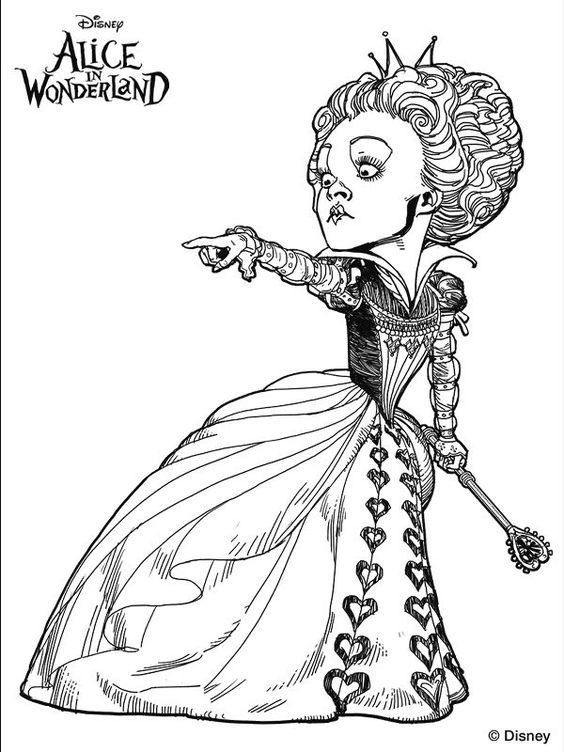 Alice Wonderland Tim Burton Coloring Pages   Coloring ...