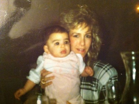 Cara, as a baby, with her mom.