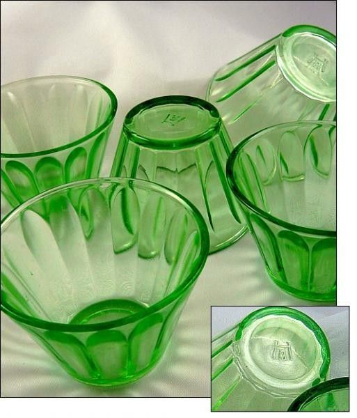 Depression Green Glass Custard