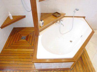 Teck en pont de bateau jefaislasalledebainsquimeplait - Parquet teck pont de bateau ...