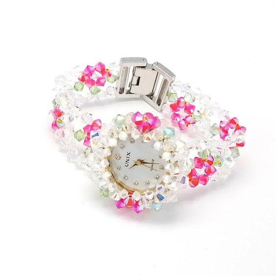 Valentine's day gift Floral Quacy Watch-Dark by MariYunJewelry