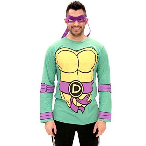 Teenage Mutant Ninja Turtles Long Sleeve Donatello Kostüm Erwachsene grün…