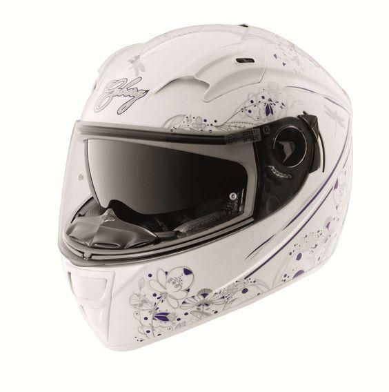 Caberg Vox Romantik White/Multi X-Small Helmet: Amazon.co.uk: Car & Motorbike